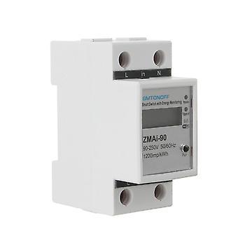 Smart Life Tuya APP Single Phase Din Rail WIFI Smart Energy Meter Power Consumption kWh Meter Wattme