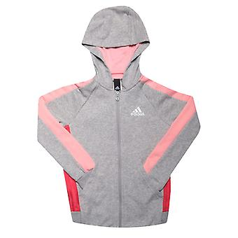 Girl's adidas Infant Athletics Club Zip Hoody in Grau