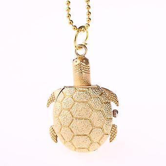 Deffrun Gold Case Tortoise Pocket Watches Unisex Quartz Watch