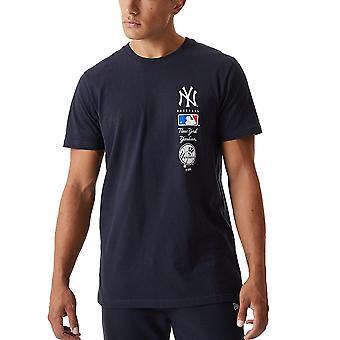 Nowa era STACK LOGO Shirt - MLB New York Yankees navy