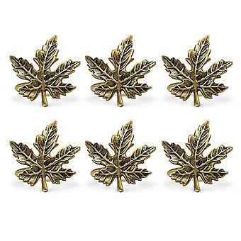 Dii Gold Maple Leaf Napkin Ring (Ensemble de 6)