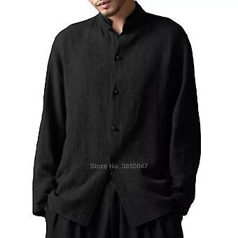 Lange mouw katoenen mannen 's Tang Suit shirt, traditionele Chinese kostuum