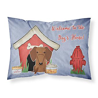 Caroline's Treasures Dog House Collection Dachshund Red Brown Fabric Federa standard Bb2884Pillowcase, Multicolor