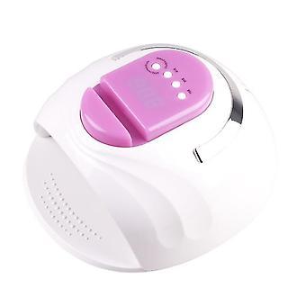 Purple Portable EU plug Smart 4-gear timing 42 led UV light nail lamp with phone holder