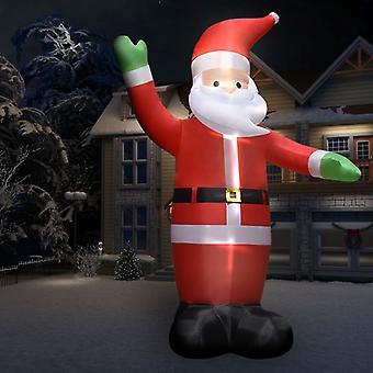 vidaXL Aufblasbarer Weihnachtsmann 10m XXL Hochdruckgebläse