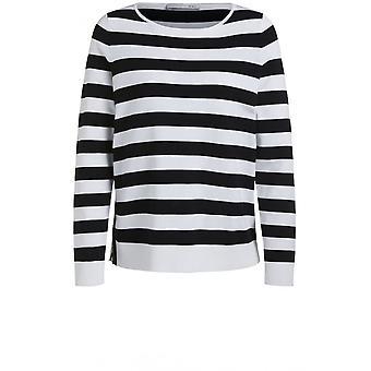 Oui Black & White Stripe Jumper