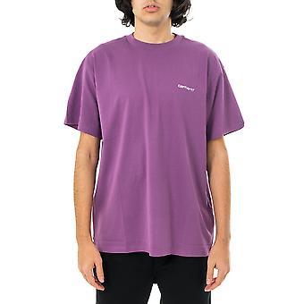 Miesten T-paita carhartt wip s/s käsikirjoitus kirjonta t-paita i025778.0aj