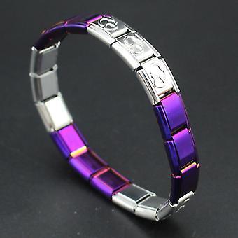 Gemischte Farbe Edelstahl Armband Armreif