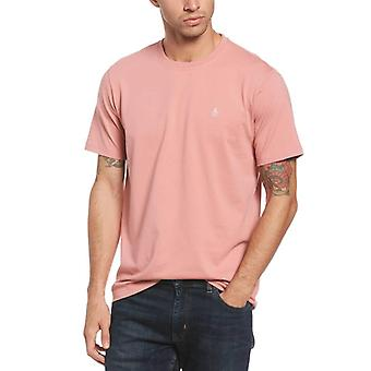 Original Penguin Pin Point Embroidery T-Shirt - Dusty Rose