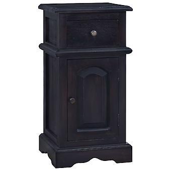 vidaXL Bedside Table Light Black Coffee Solid Wood Mahogany
