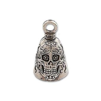 Guardian Bell, Metal, Day Of The Dead Sugar Skull, Motorcycle Good