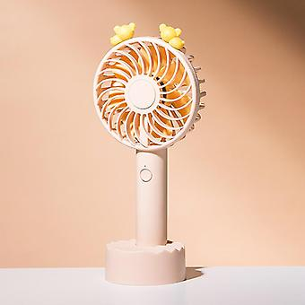 Mini fan hanging neck handheld creative cell phone stand student dormitory rechargeable small fan