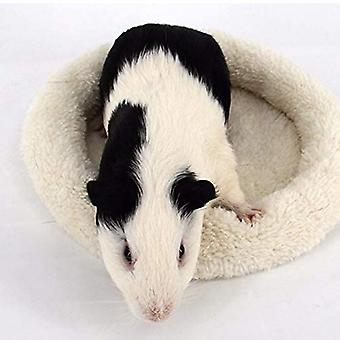 Pohodlná kulatá teplá fleecová křeččí postel sleep mat pro malé domácí mazlíčky