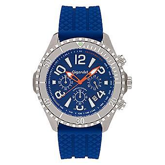 Gigandet Aquazone Men's Watch Quartz Chronograph Analog Diving Watch Date Blue Silver G23-004
