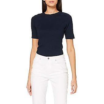Lee Ribbad Tee T-Shirt, Sky Captain, L Donna