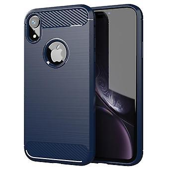 Tpu carbon fiber hoesje voor iphone xs max blauw mfkj-796