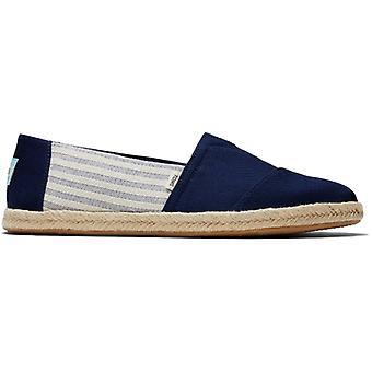 TOMS Alpargata Rope University Mens Cotton Slip On Shoes Navy