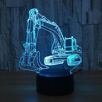 Gravemaskin ledet bordlampe touch illusjon nattlys