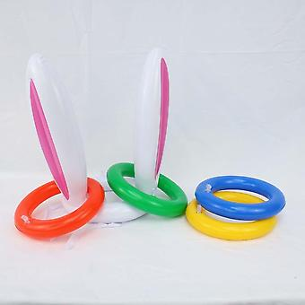 Chapeau gonflable de lapin de Pâques, ring toss, jeu pour enfants