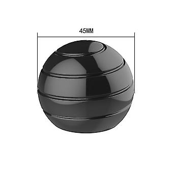 45Mm black detachable rotating table top ball, fingertip spinning top, decompression toy az6310