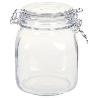 vidaXL mason jars with bracket closure 6 pcs. 1 L