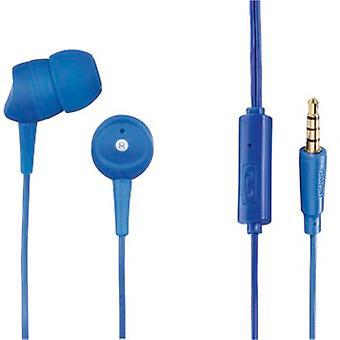 Hama - Casque stéréo intra-auriculaire Basic4Phone, bleu - bleu - matière plastique (1 ACCESSORES)