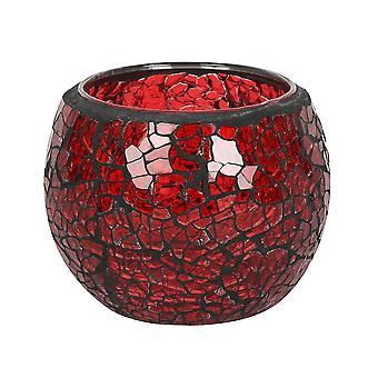 Lille rund rød knitrende lysestage