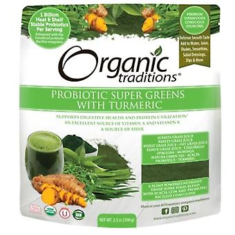 Organic Traditions Probiotic Super Greens with Turmeric, 3.5 Oz