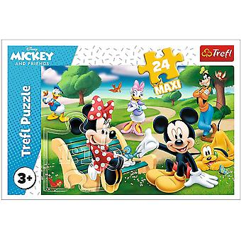Mickey Mouse Jigsaw Puzzle - 24 Maxi Pieces