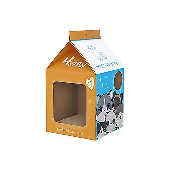 Vlnitá papper mliečna škatuľa Cat House Priedušný králik Mačiatko Mačka Hniezdo Scratch Pad Kartón pre pet mačka spací dom