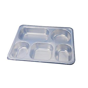 Deepen Thick Stainless Steel Plate With 5 Compartments And Stainless Steel Lid