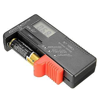 DANIU BT-168D Universal AA/AAA/C/D/9V/1.5V LCD-näytön akkutestauspainike Kenno Voltin tarkistus