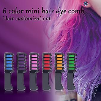 6pcs/set Mini Disposable Salon Use Hair Dye Comb Crayons For Hair Color Chalk