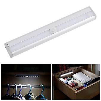 10 Led Bright Pir Mozgásérzékelős Lámpaszekrény Szekrény Fiókos lámpa izzó