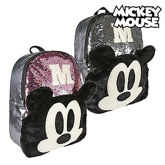 Casual Backpack Mickey Mouse sequins (31 x 40 x 12 cm)