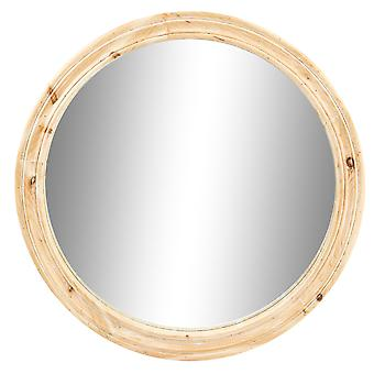 Cotswold Round Wooden Wall Mirror Rustic Framed Hallway Bar 78cm Washed White