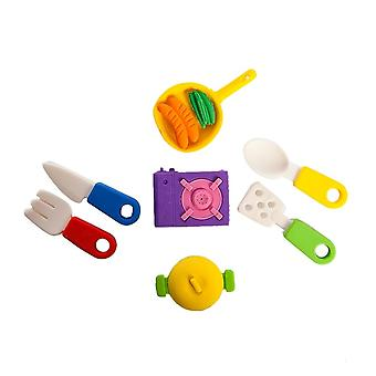 Nektar Fast Food 3D Eraser Set, Fun Designs, For Children, Child Development, Stationery Supplies, 4 Pieces, 2-3 cm