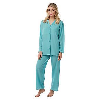 Camille Womens Plain Pyjama Set Green