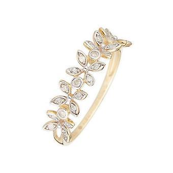Anillo 'Quezon' oro amarillo y diamantes