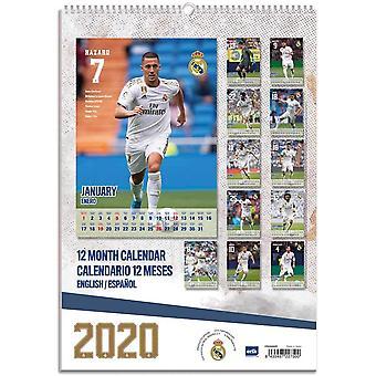 Real Madrid CF A3 2020 Wall Calendar