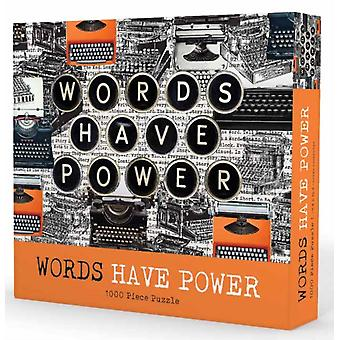 1000piece puzzle Words Have Power by Gibbs Smith