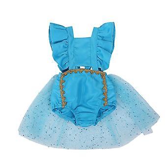 Citgeett Zomer Blauwe Baby Backless Bodysuit