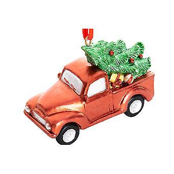 Hengende dekorasjon DKD Hjem Dekor Christmas Red Harpiks (7,5 x 3 x 6 cm)