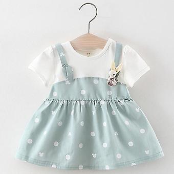 Nou-născut Baby Rochie de iarnă de Crăciun Floral Cherry Dot Bumbac Bow Dress Set