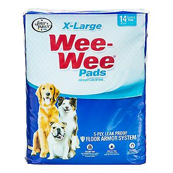 """Four Paws X-Large Wee Wee Pads - 14 Pack (22"""" Long x 23"""" Wide)"""