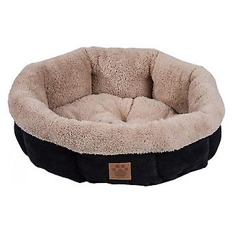 Precision Pet Snoozzy Mod Chic 12 Inch Round Pet Bed Black - 1 count