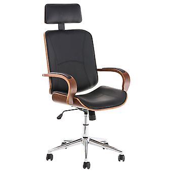 Toimistotuoli - Työpöytätuoli - Kotitoimisto - Moderni - Saksanpähkinä - Metalli - 70 cm x 70 cm x 118 cm