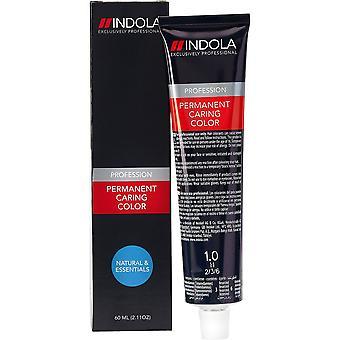 Permanent Dye Indola Caring Color Natural & Essentials #1.0 (60 ml)