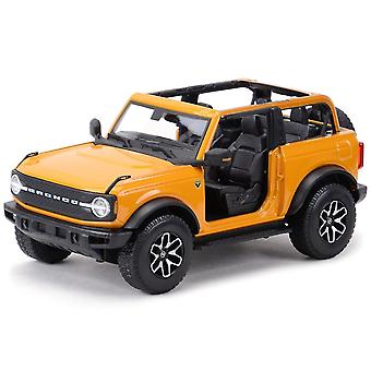 Toy cars 1:18 ford bronco badlands static die cast vehicles collectible model car toys orange