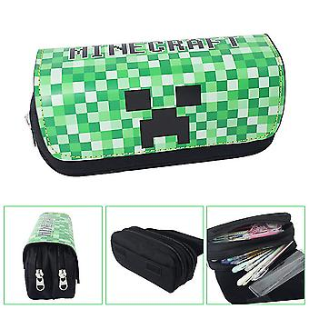 Minecraft Children's double-layer pencil case with large capacity(Color-6)